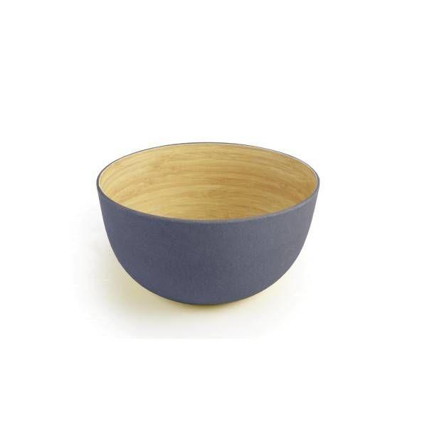 Ensemble de 4 bols  en bamboo gris 14cm  de ICM