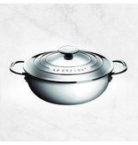 Le Creuset Chaudron à risotto en acier inox 3.3L par Le Creuset