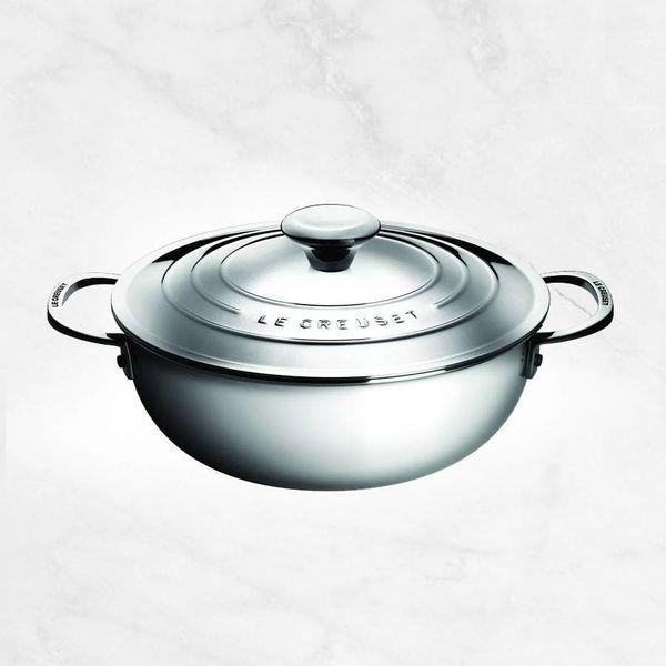 Chaudron à risotto en acier inox 3.3L par Le Creuset