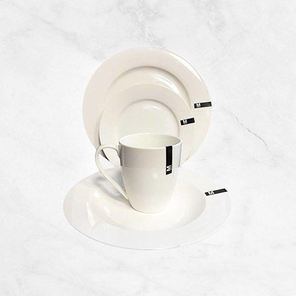 """Ensemble à vaisselle 16mcx en porcelaine """"Classic Royal"""" par Mann"""