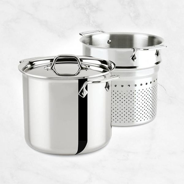 All Clad Stainless 8 QT (7.5L) Stock Pot with Perforated  Insert