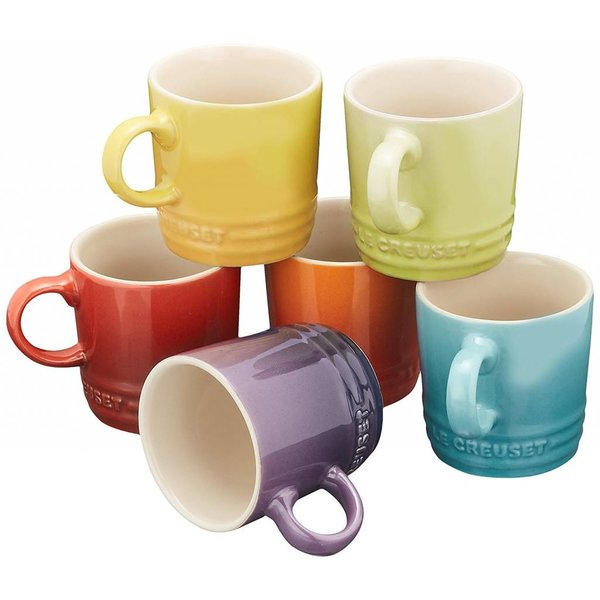 Ensemble de 6 tasses à espresso assorties par Le Creuset