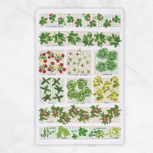"""Linge à vaisselle """"Parcelle de jardin"""" (Anglais) par Now Designs"""