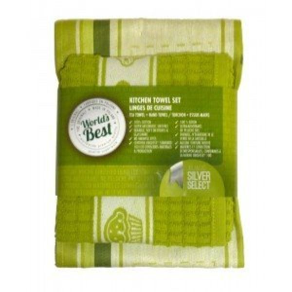 World's Best Kitchen Towel Set - Apple Green