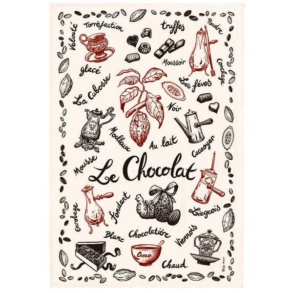 """Torchon coton """"Chocolat"""" de T&B"""