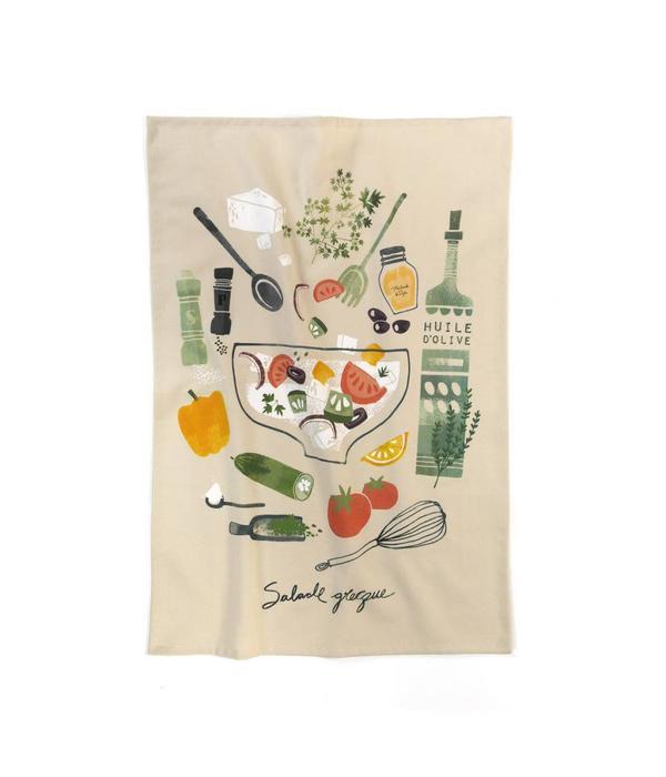 Linge vaisselle salade grecque par ricardo for Ares accessoires de cuisine