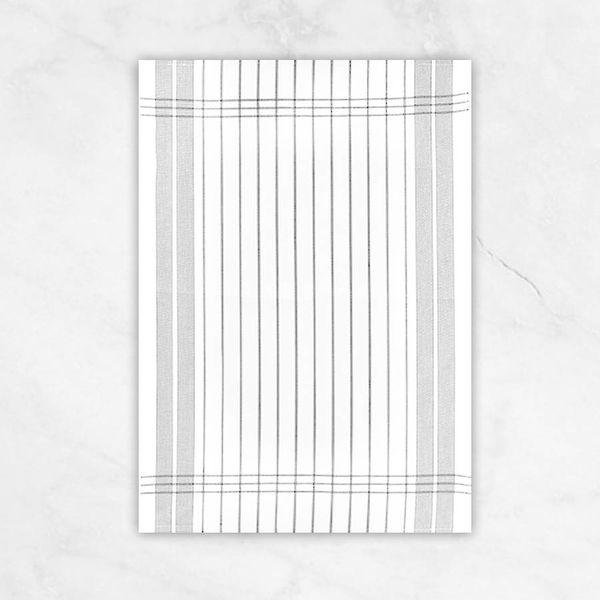 "Winkler ""Small Stripes"" Grey Dish Towel"