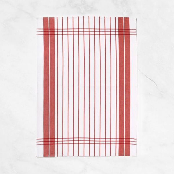 "Winkler ""Small Stripes"" Red Dish Towel"