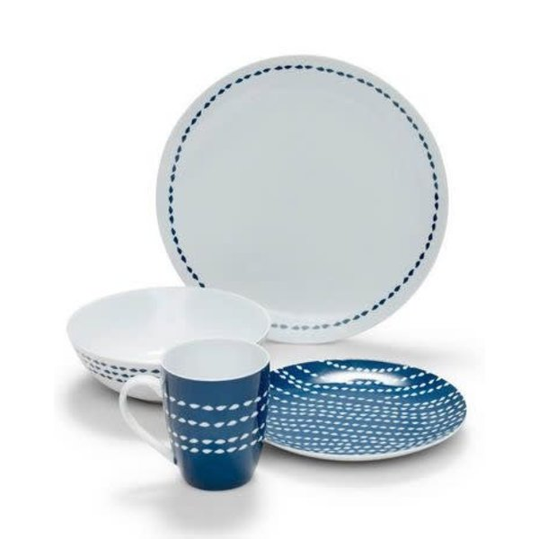 "S&P 16-Piece ""Reed"" Dinnerware Set"