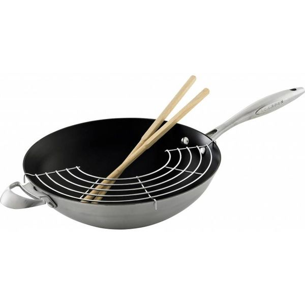 ScanPan CTX 32cm Wok with Wire Rack and Chopsticks