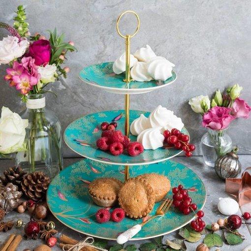 """Portmeirion Assiette à gâteau 3 étages de la collection """"Chelsea de Sara Miller London"""" par Portmeirion"""