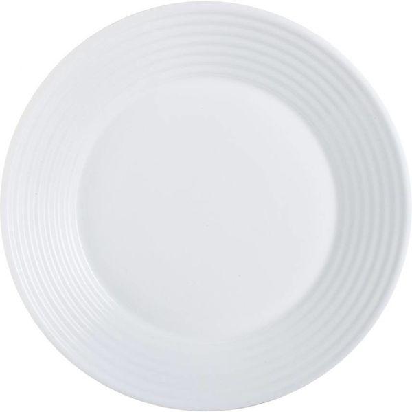 Assiette à dessert blanc Harena de Luminarc