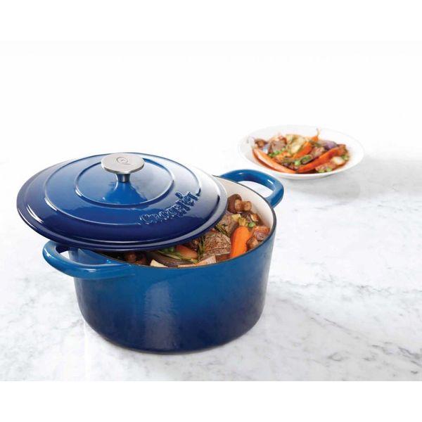 Crock Pot  Artisan 4.7L Blue Enameled Cast Iron Dutch Oven