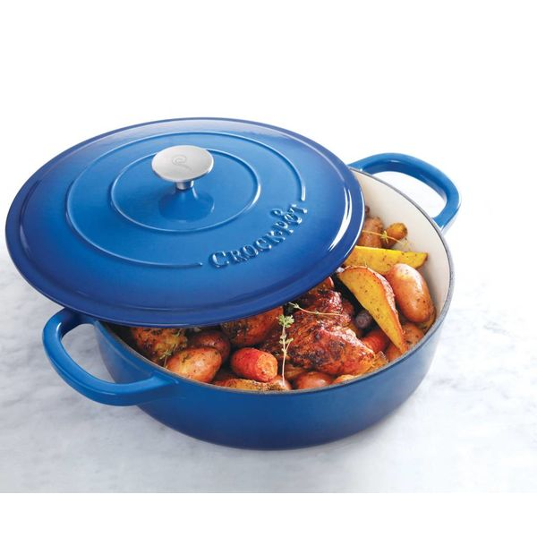 Crock Pot  Artisan 4.7L Blue Enameled Cast Iron Braisier