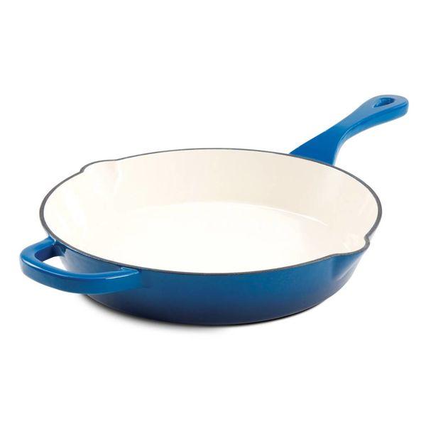 Crock Pot Artisan 25.4cm Blue Enameled Cast Iron Frying Pan