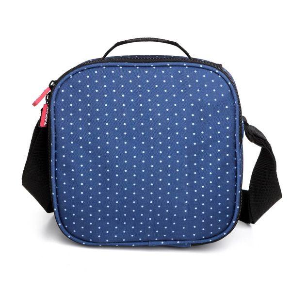 "Tatay ""Urban Food""  Blue with Polka Dots Lunch Bag"