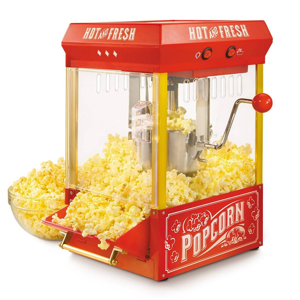 Nostalgia Electrics Old Fashioned Kettle Popcorn Maker Cart Review