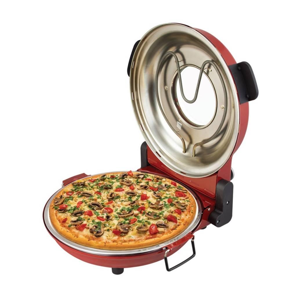 Four pizza rouge avec pierre de cuisson 1200w par for Nouveaute accessoire cuisine