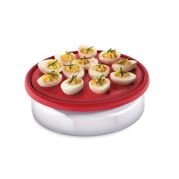 Devilled Egg Platter and Cover