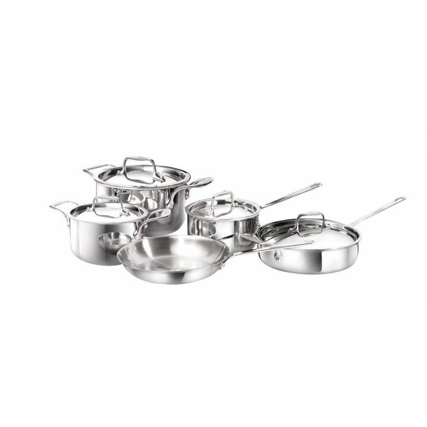 9 Piece stainless steel integral-3 cookware set