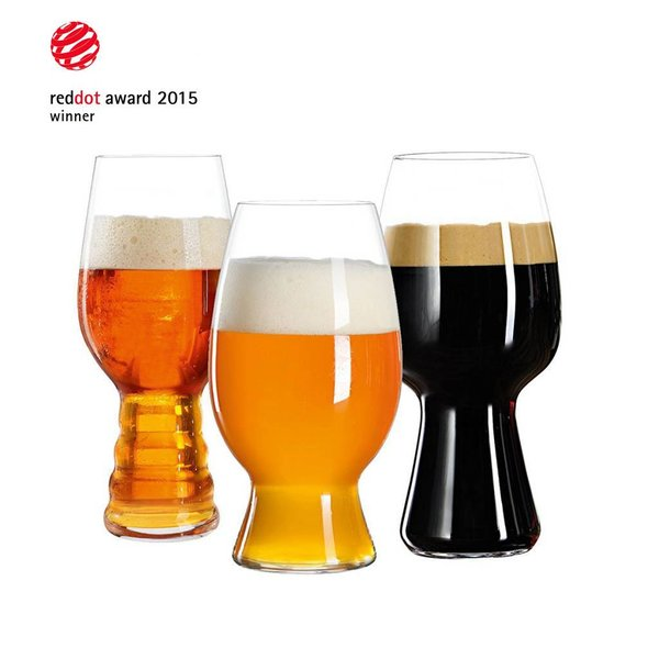 Ensemble de 3 verres à bière de dégustation par Spiegelau