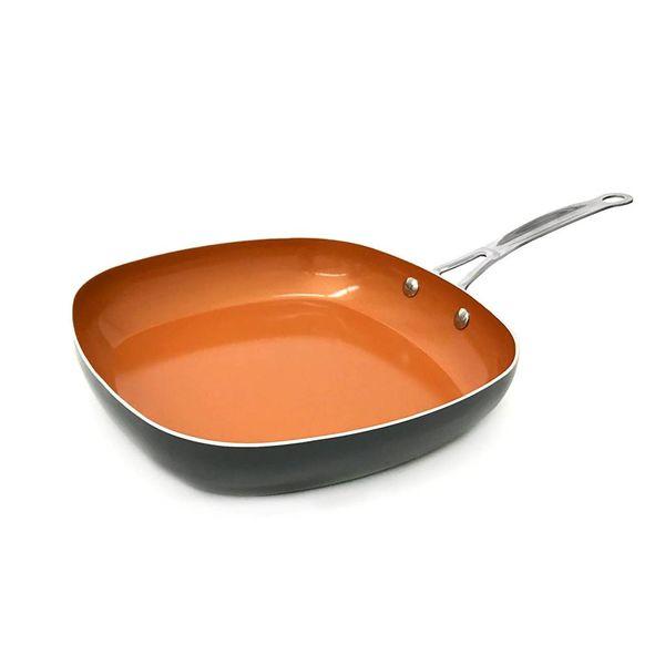 Gotham Steel Copper 32 cm Square Fry Pan