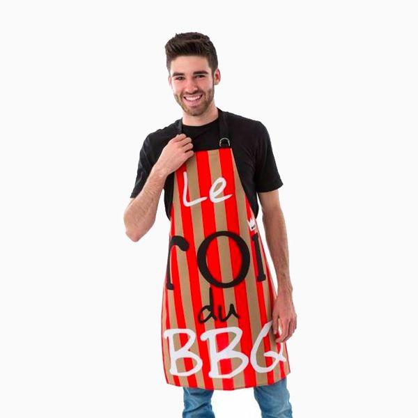 """Tablier """"Le roi du BBQ"""" - Beige par A&A"""