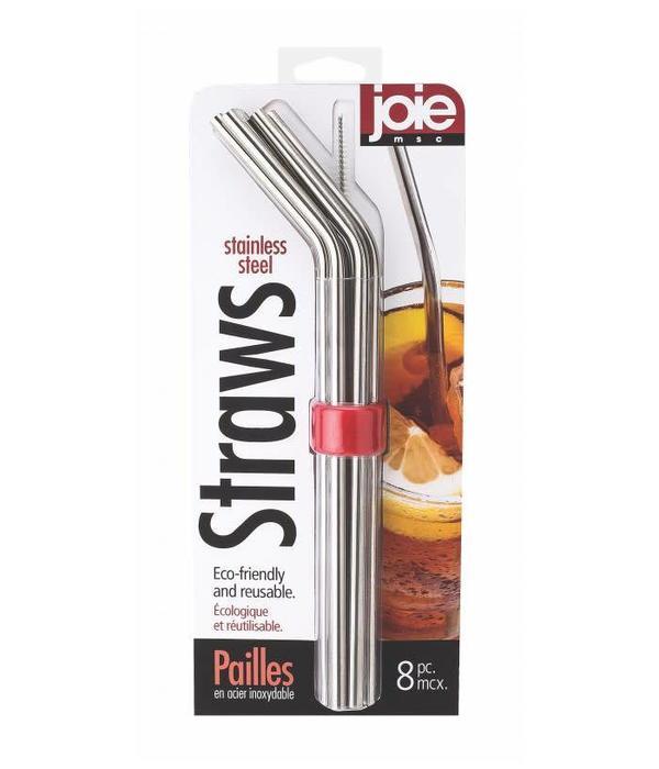 Joie Stainless Steel Straws - 8 Piece Set