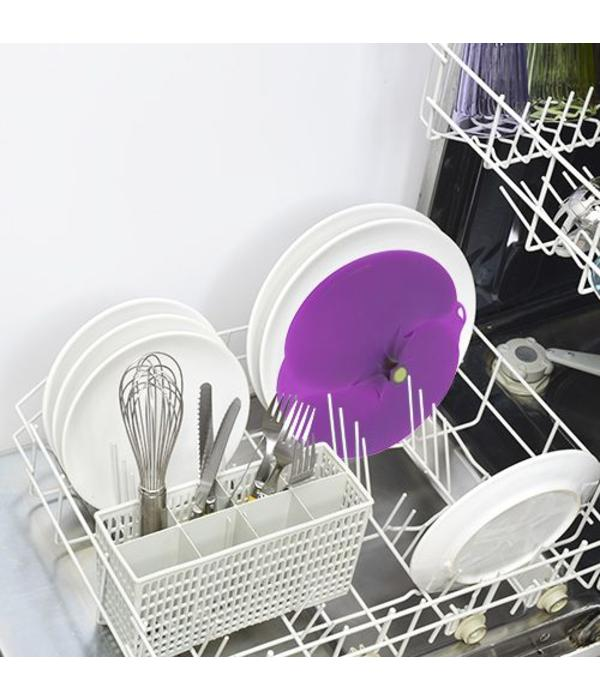 """Couvercle """"aubergine""""  en silicone de Charles Viancin 20 cm"""