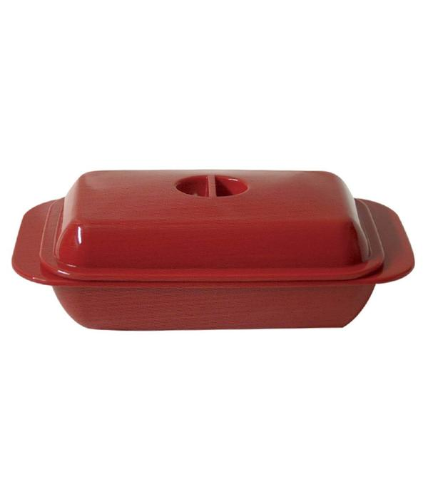 Kitchen Basics Melamine Butter Dish Red