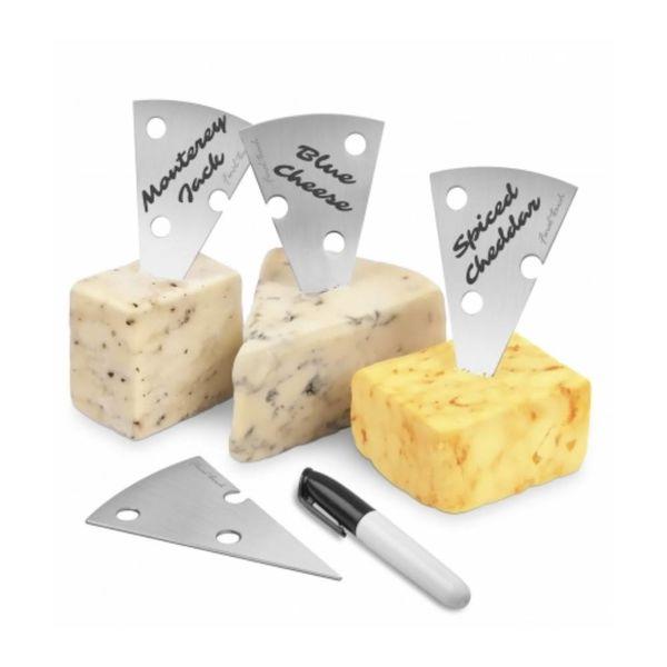 Ensemble 4 marqueurs à fromage avec feutre