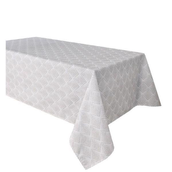 "TexStyles Deco Printed Tablecloth ""Chevron Grey"" 58 x 108"""
