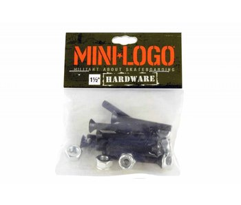 Mini Logo Hardware Black 1 1/2in
