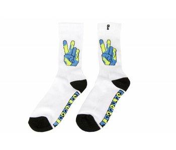 Psockadelic World Peace Sock