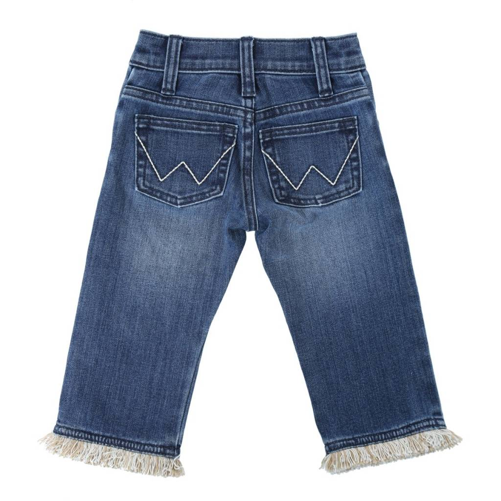 Wrangler All Around Baby, Fringe Hem Embroidery Jean