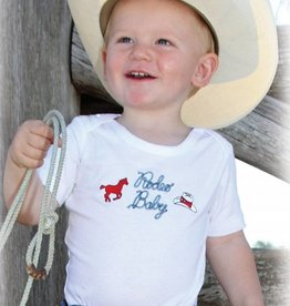 "Wrangler All Around Baby, ""Rodeo Baby"" White Onesie"