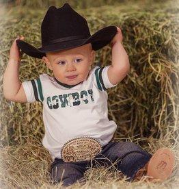 "Wrangler All Around Baby, Boys Green Camo Sport Sleeve ""Cowboy"" Tee"