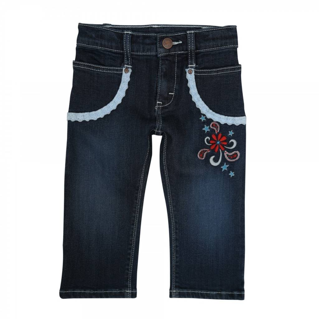 Wrangler All Around Baby, Infant Girls Jean with Lace Trim
