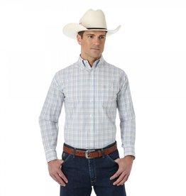 Wrangler George Strait Cream Multi Plaid Men's Western Shirt