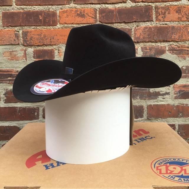 American Hat Co 7X 6CB - 4 1/4, Black