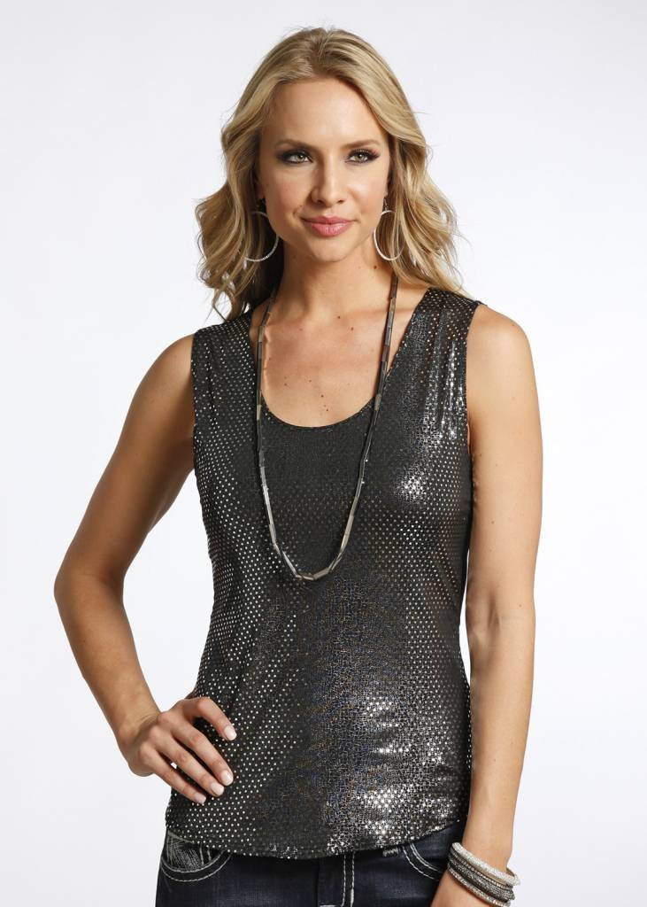 Rock & Roll Cowgirl Allover Sequin Tank
