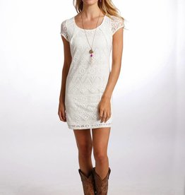 Panhandle Cream Lace Knit Dress
