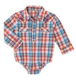 Wrangler All Around Baby Plaid Bodysuit