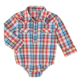 Wrangler All Around Baby Plaid Bodysuit