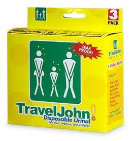 TravelJohn DISPOSABLE URINAL - 3 pack