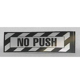 No Push Placard Sticker (2 per pack)