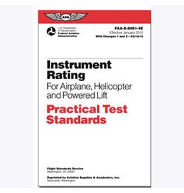 ASA Practical Test Standards: Instrument Rating (Airplane, Helicopter & Powered Lift)