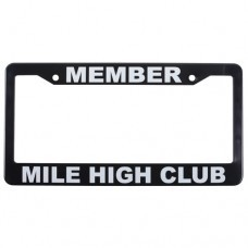 MEMBER MILE HIGH CLUB LICENSE PLATE FRAME
