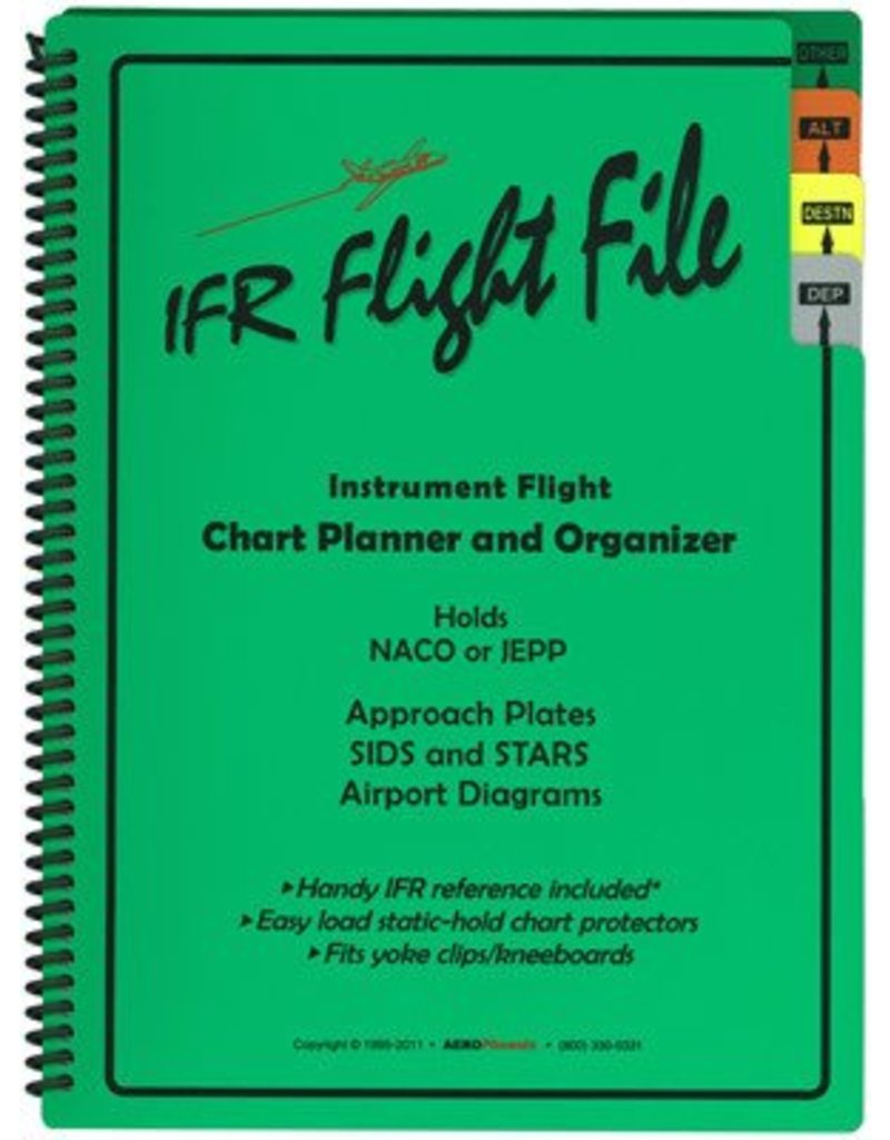 """IFR """"Flight File"""" Enroute Chart Organizer with tabs"""