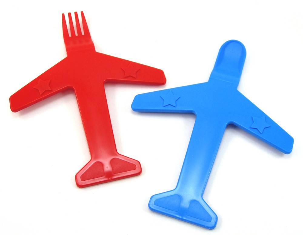 AIRPLANE FORK & SPOON SET